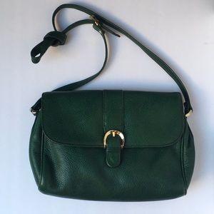 Liz Claiborne Green Leather Crossbody Bag